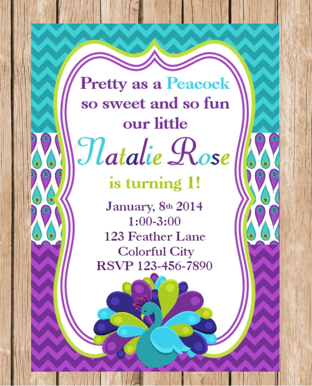 Pretty Birthday Invitations
