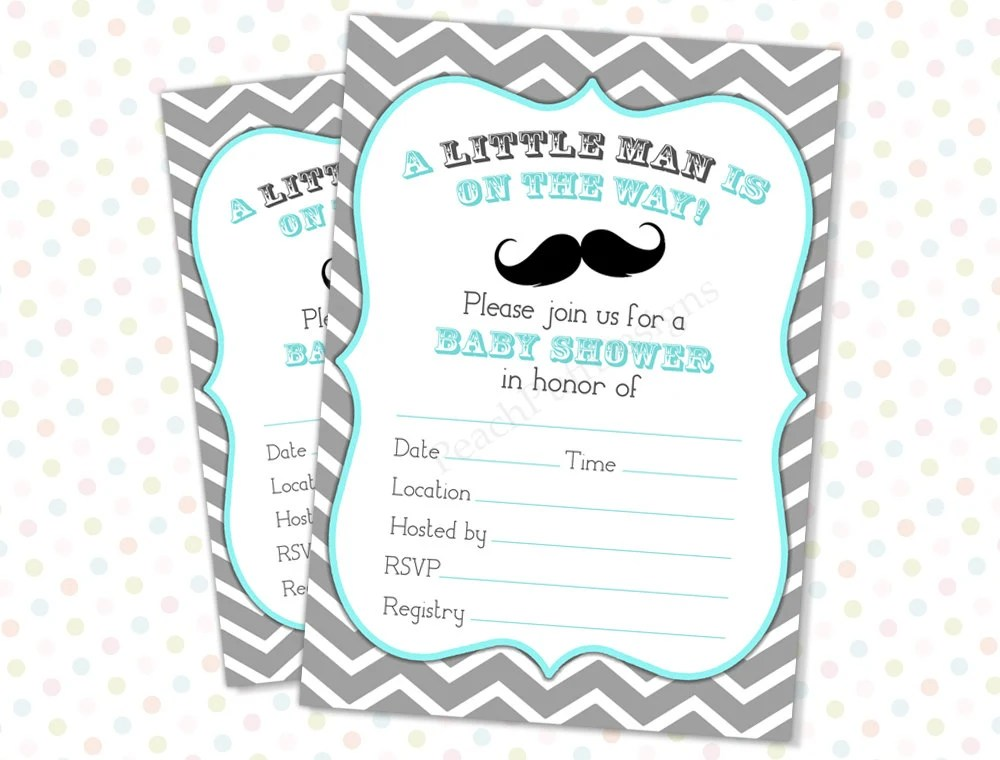 Baby Shower Invitations You Fill
