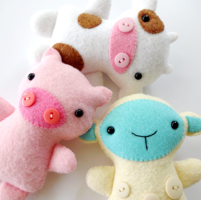 Farm Animal Softies Sewing Pattern Tutorial Epattern