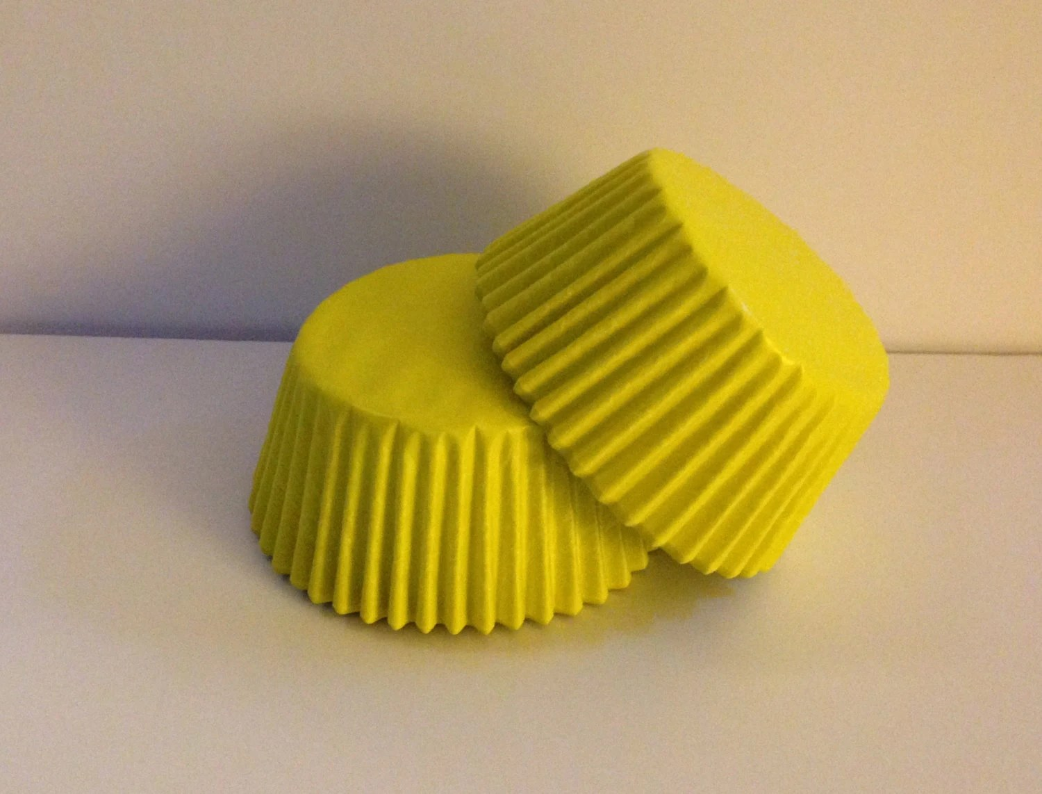 50 Count Glassine Yellow Standard Size Cupcake