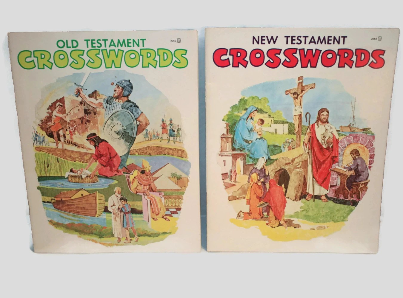 Vintage Old Testament And New Testament Crossword Books By