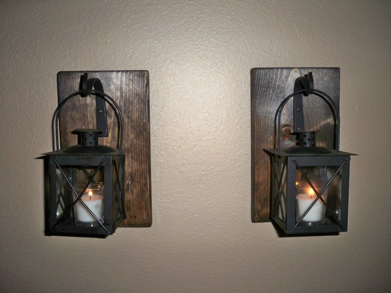 LANTERN SET Wall Decor Housewarming Gift Wrought Iron Hook