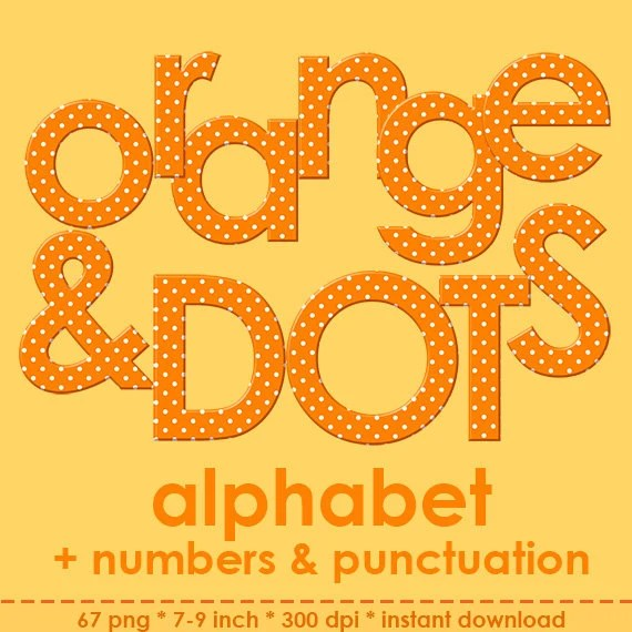 Large Polka Dots Letters Printable