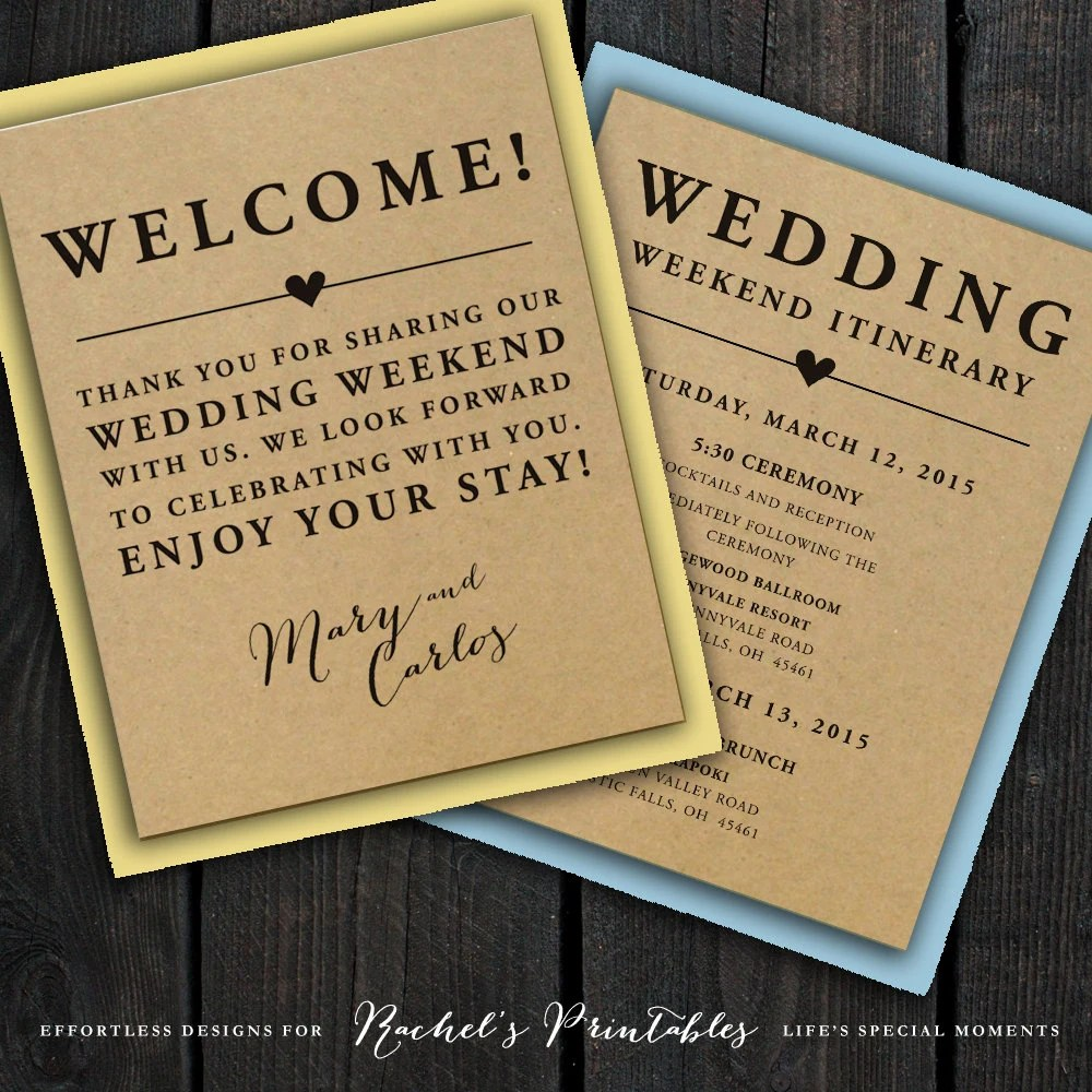 Notes Sample Welcome Bags