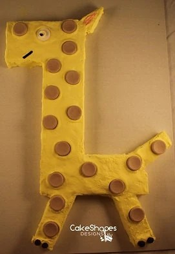 Giraffe Cut Up Cake Pattern