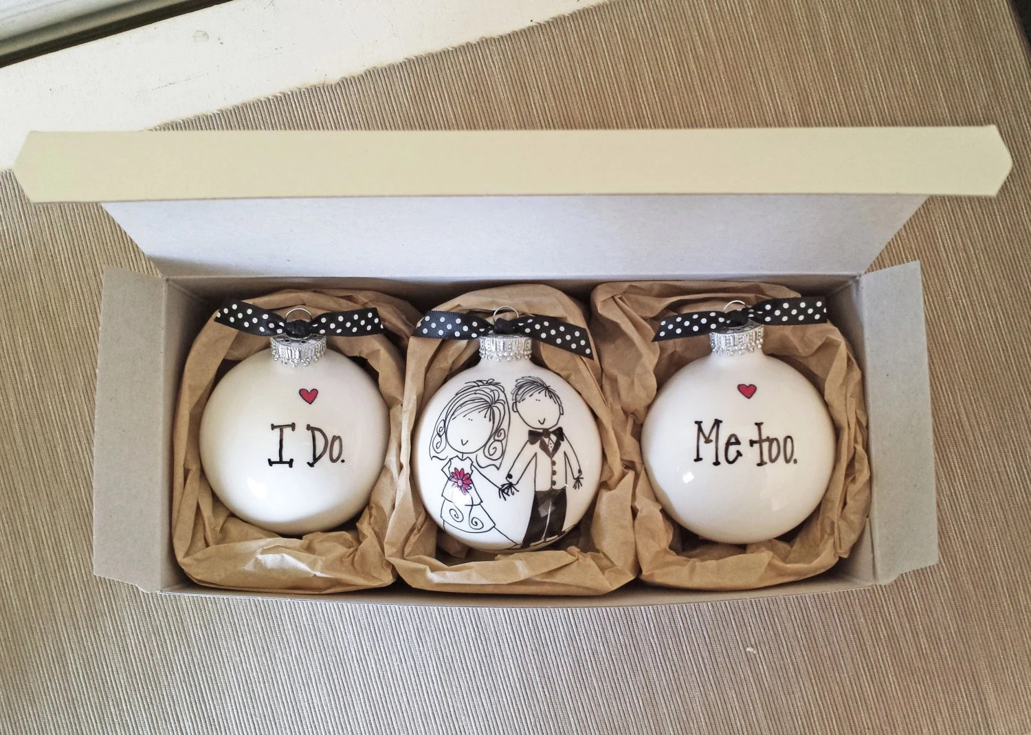 Wedding Ornaments Keepsake Wedding Gift Personalized Wedding