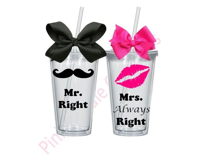 Mr And Mrs Gift Wedding Gift Mr And Mrs Tumblers Tumler