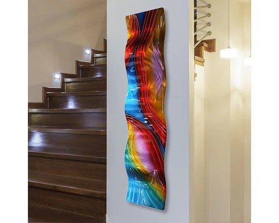 SALE Multi Colored Abstract Metal Wall Art Large Modern Wall