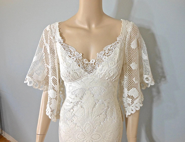 ROMANTIC Lace WEDDING Dress Bohemian Wedding Dress Ivory
