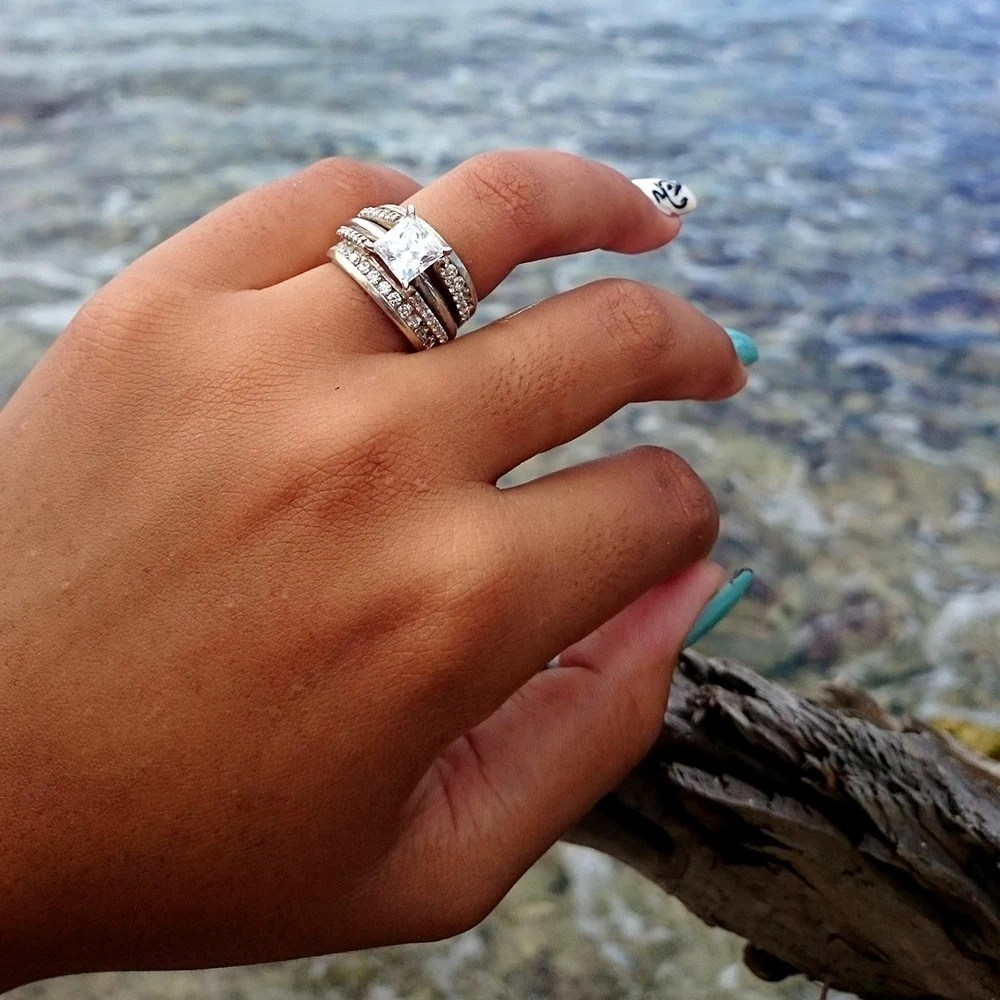 Moissanite Cathedral Wedding Band Guard By TwoBirchJewelers