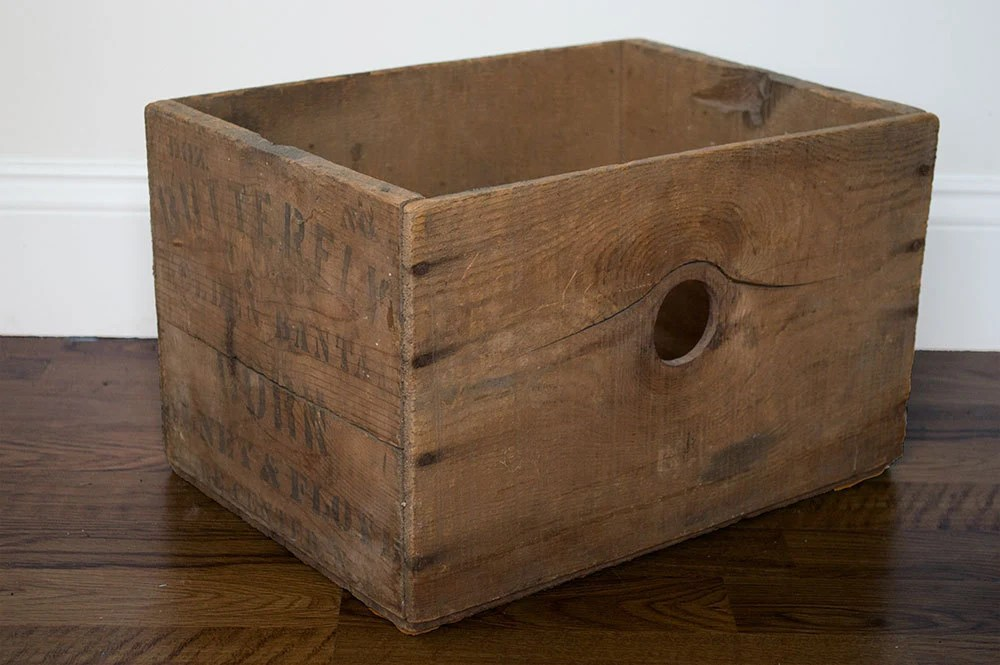Vintage Wooden Crate Wood Crate Old Wood Box Wooden