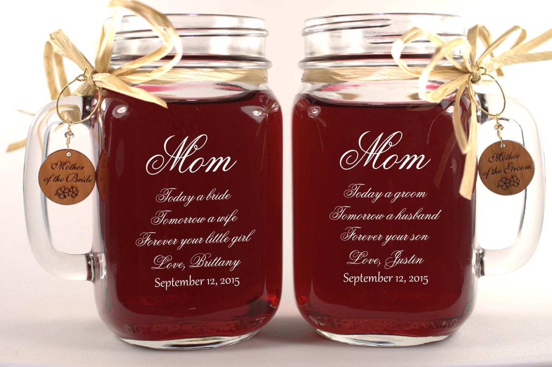 Mom Wedding Gift Mason Jars Mother Of The Groom Gift Mother