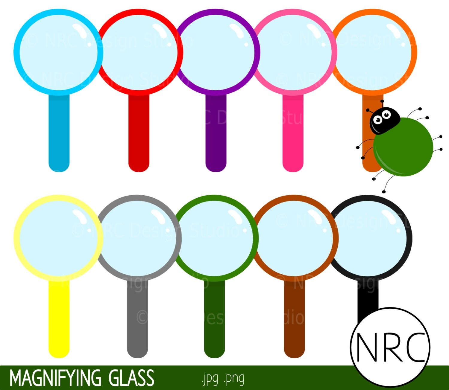 Final Sale Magnifying Glass Clip Art Science By
