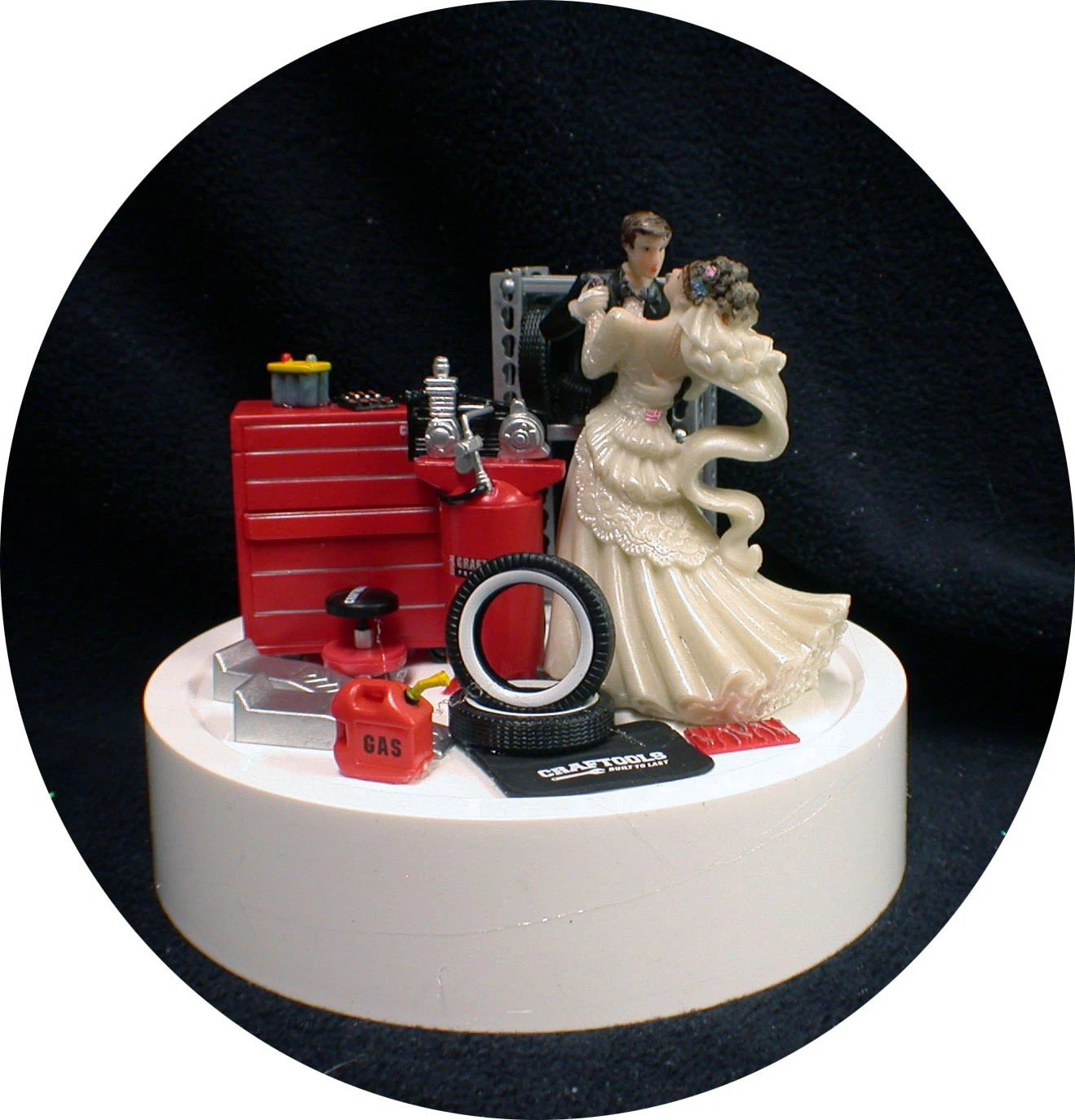Car AUTO MECHANIC Wedding Cake Topper Bride Amp Groom Tool Box