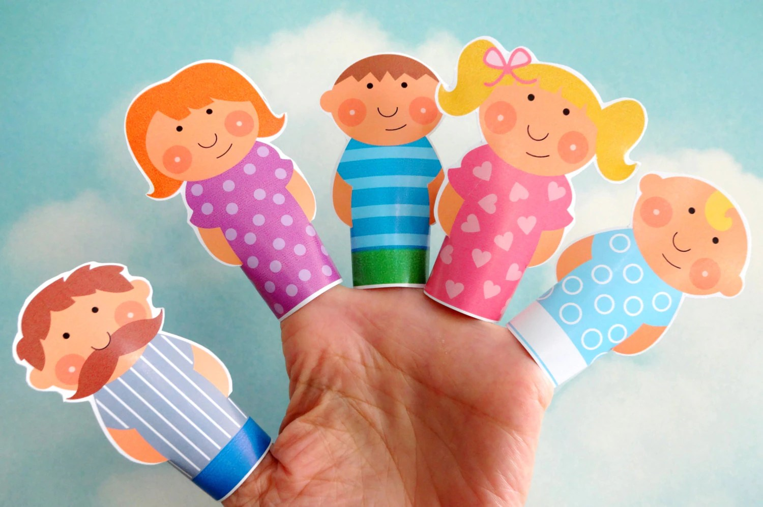 Diy Printable Finger Puppet Family Daddy Mommy