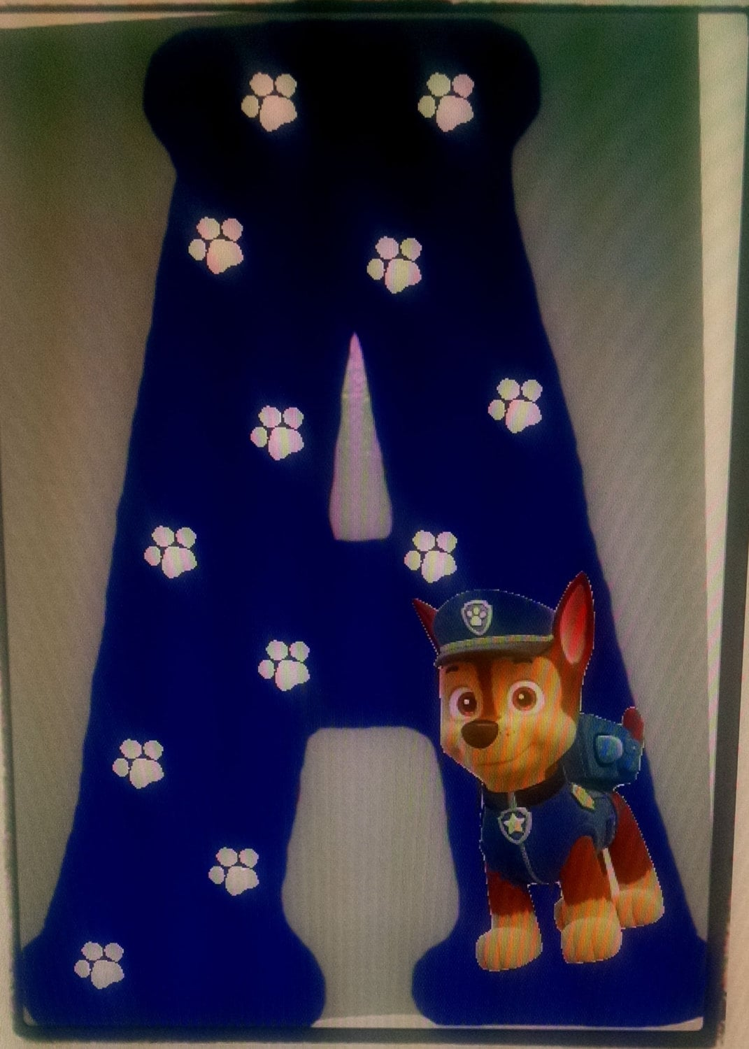 Paw Patrol Wood Letter Initial Sign By Melscraftroom On Etsy