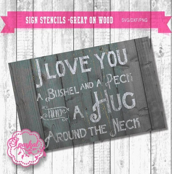 Download I love you a bushel and a peck SVG Cutting file Wall Decal ...