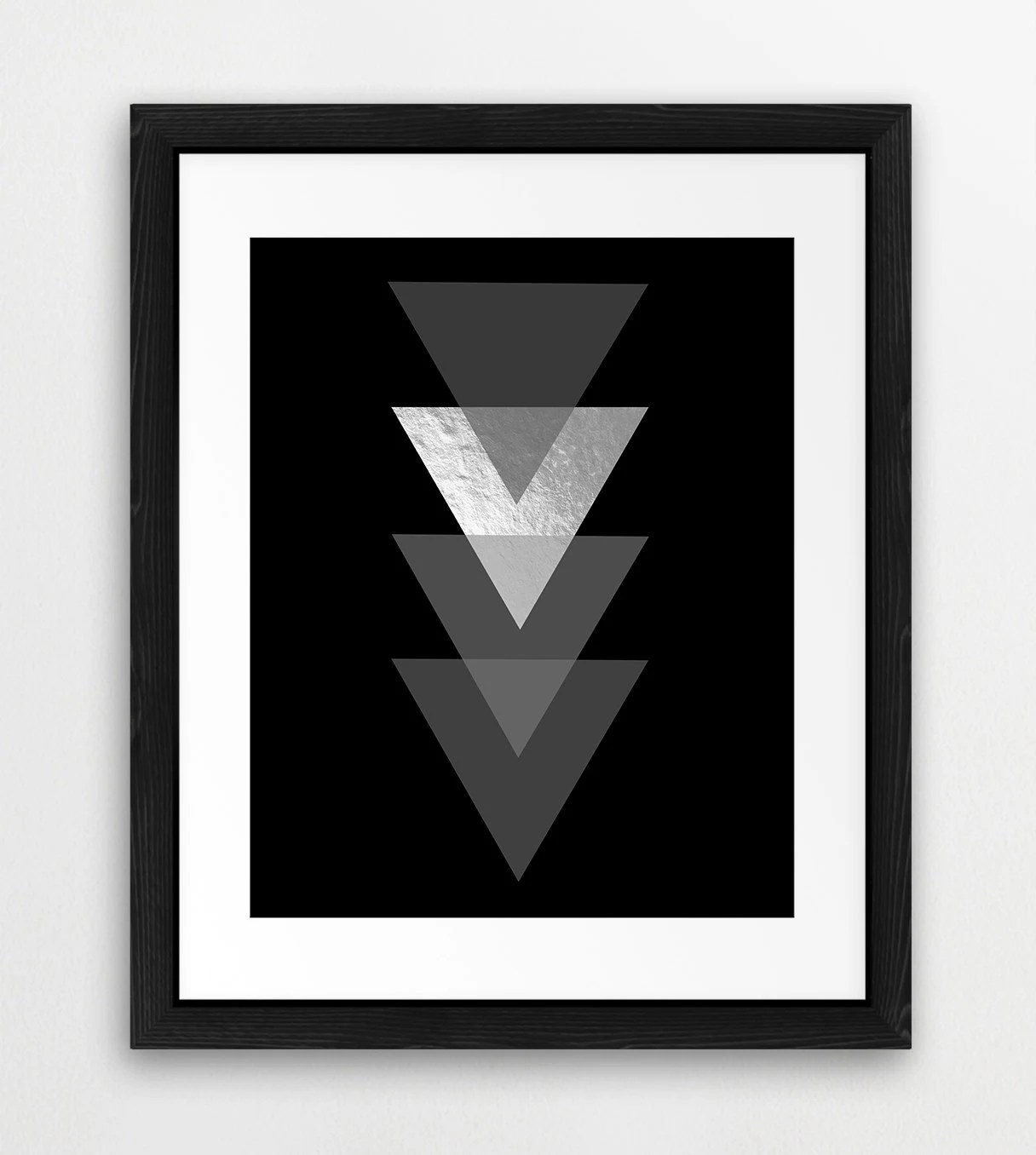 Triangle Shapes Printable File Geometric Triangle Pattern