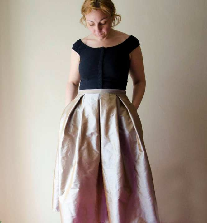 Long Silk Skirt - Skirts