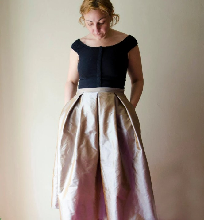 Long Silk Skirt - Skirts