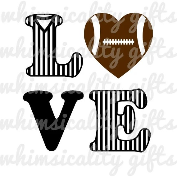 Download Digital File Love Football with SVG DXF PNG Commercial