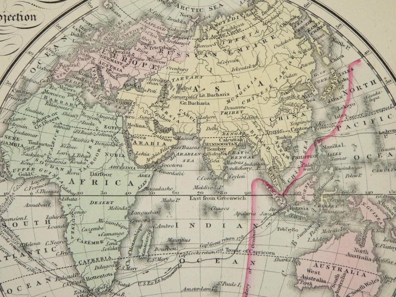 Old World Map Eastern Hemisphere Western By Oldmapsandprints