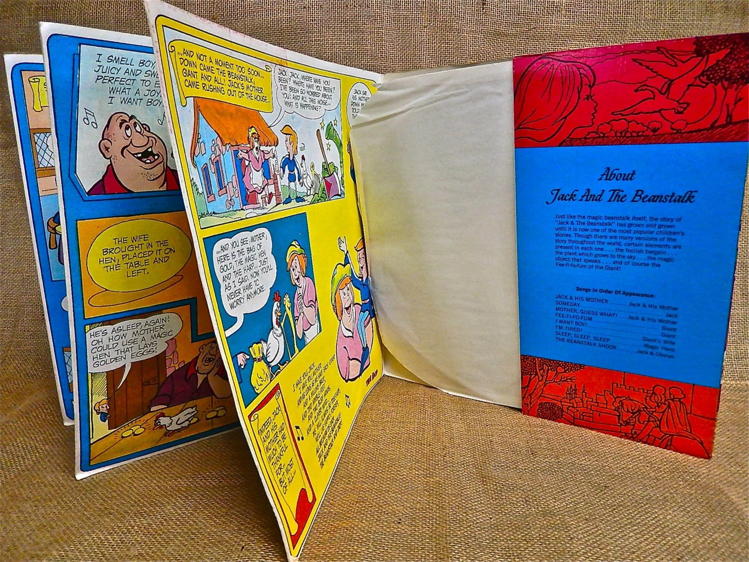 Jack And The Beanstalk A Full Color Story Book And Lp Record