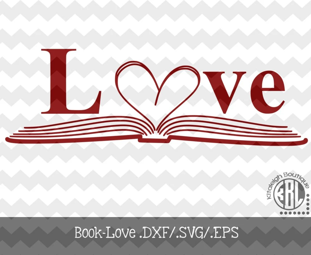 Download Book-Love decal Files (.DXF/.SVG/.EPS) for use with your ...