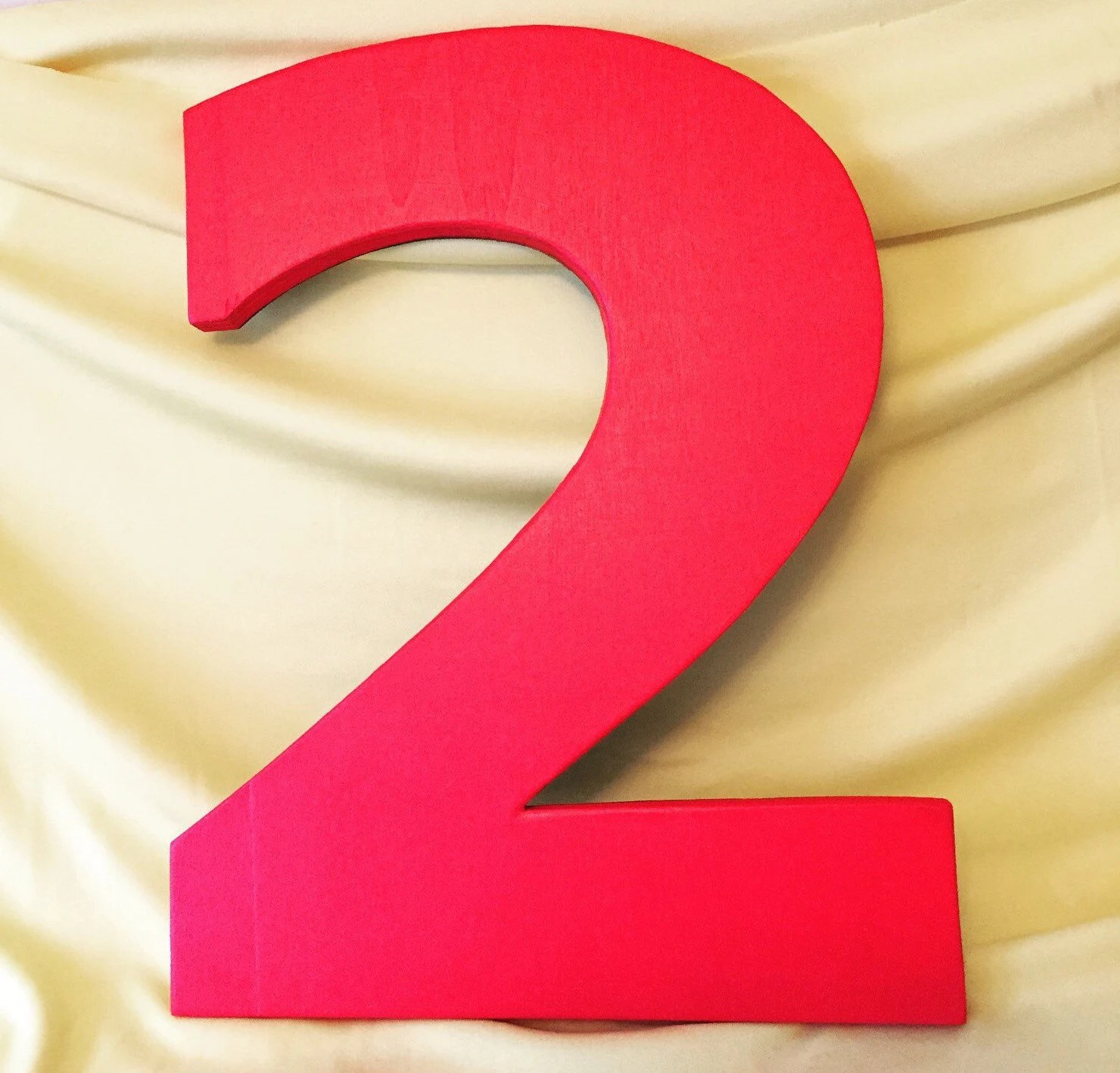 Painted Wooden Numbers Number 2 Craft Supplies Great For