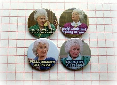 Bea Arthur Golden Girls Button Badge Or Magnet 1.5 Inch