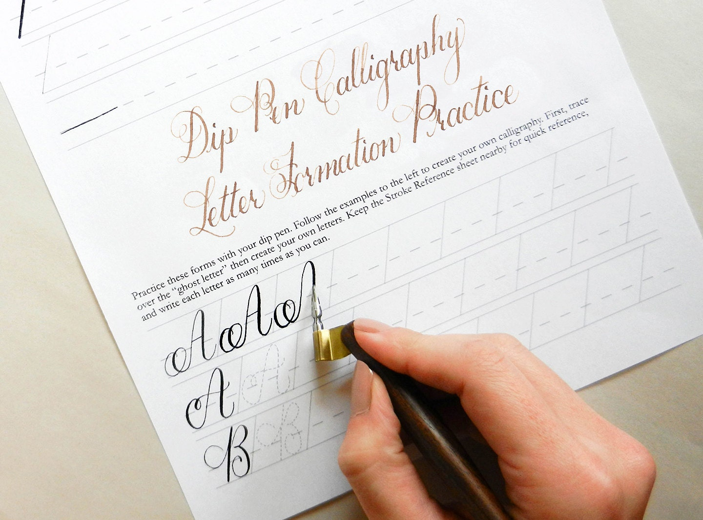 Printable Calligraphy Worksheets Janet Style Learn
