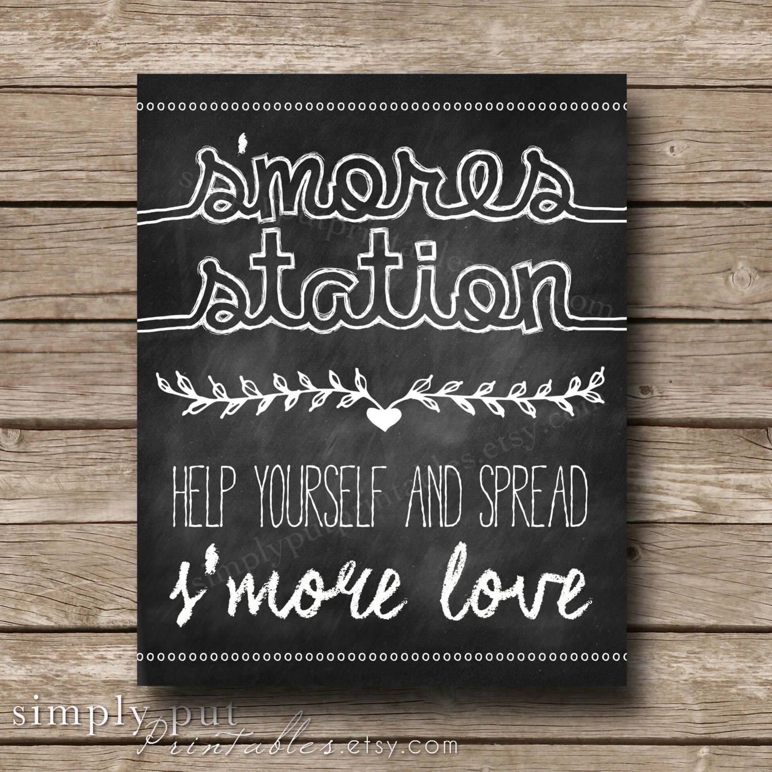 91 Free S Mores Printable Sign