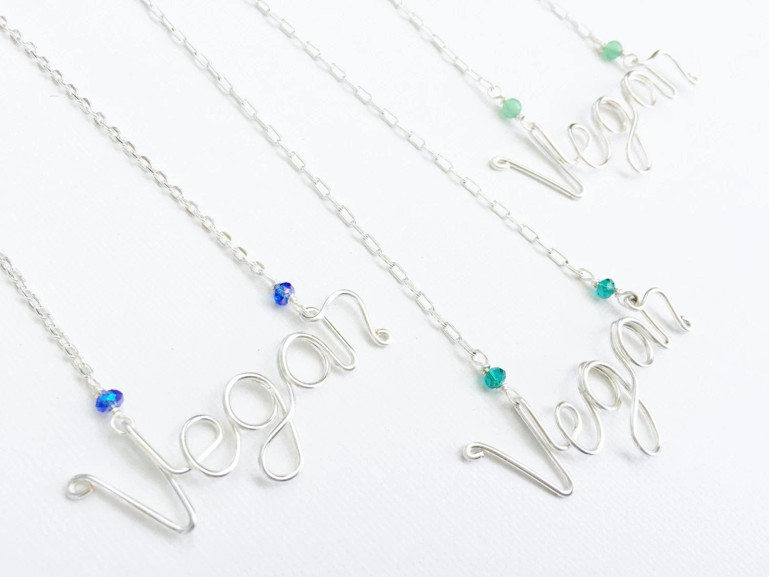 Vegan Handcrafted Wire Necklace By Urbangoddesses On Etsy
