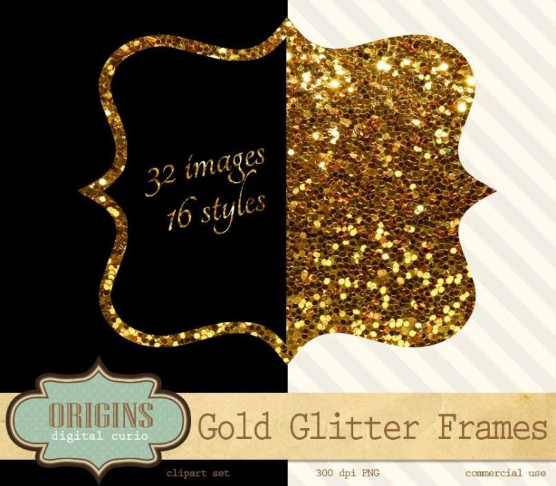 glitter photo frames | Framess.co