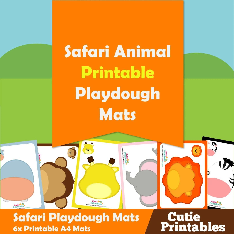 Safari Animals Playdough Mats From Mylearningprintables On Etsy Studio