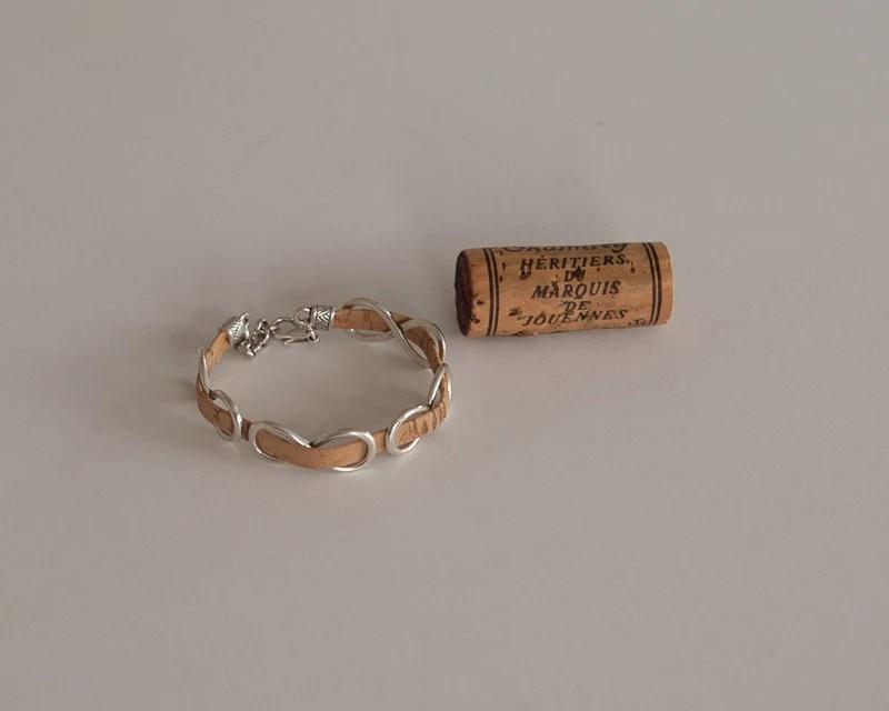 Cork Bracelet Wine Cork Jewelry Cork Jewelry Wine Cork