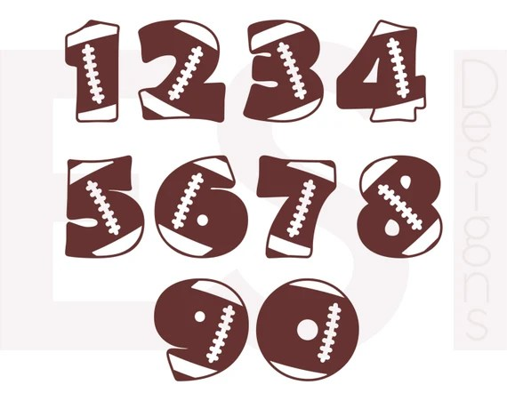 Download Football numbers SVG DXF EPS cutting files for use in