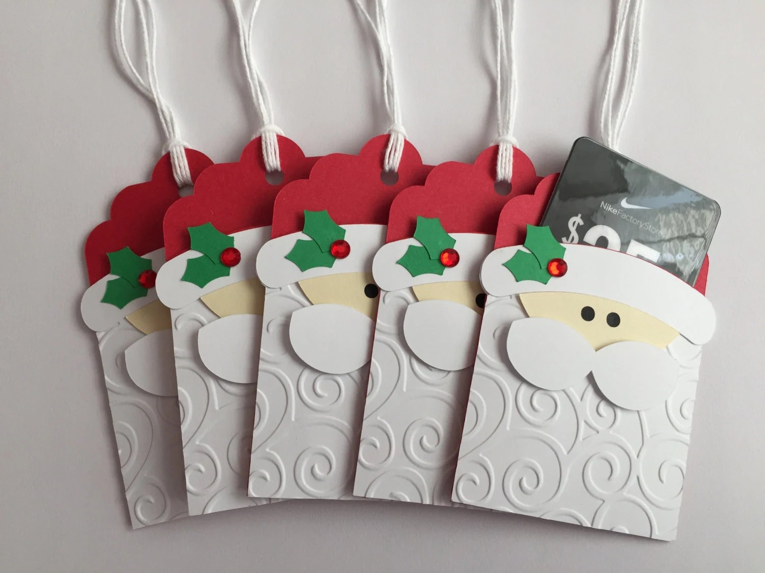 Handmade Santa Gift Card Holders Christmas Gift Card
