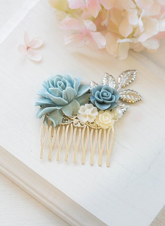 Powder Blue Dusky Blue Dusty Blue Wedding Silver Bridal By