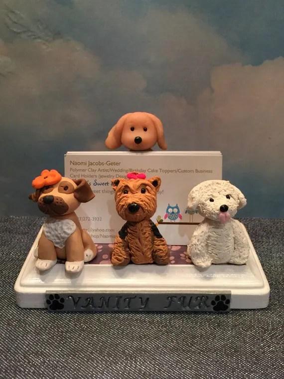Business Card Holder For Pet Grooming Pet Hospital
