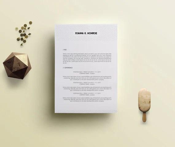 cv resume template professional minimalist 3 by vapersonalbranding