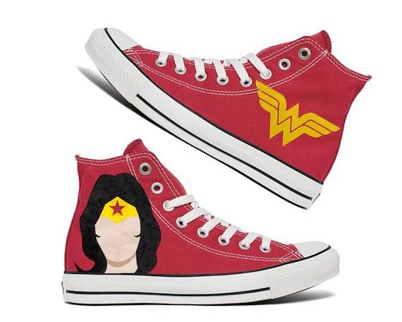 7d79fc92ecb8 Custom Wonder Woman Chucks DIY