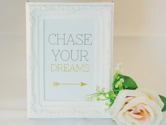 Chase Your Dreams - Framed Print