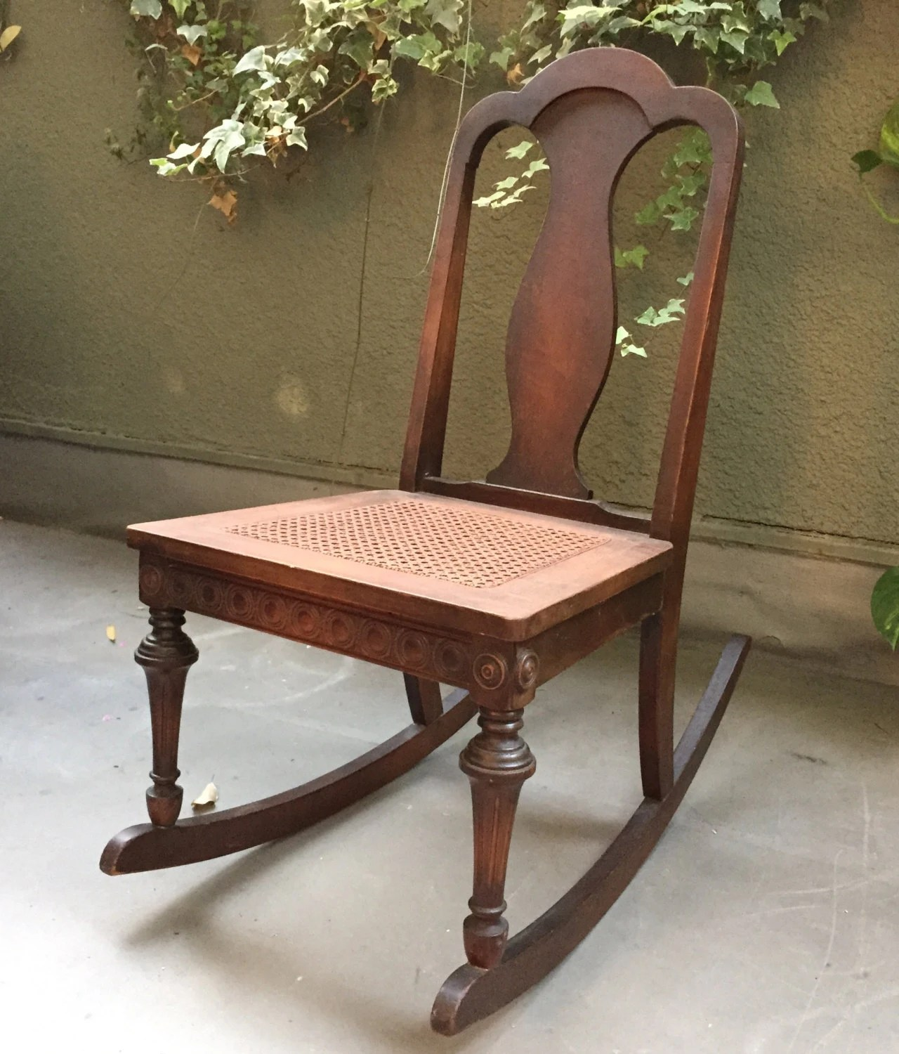 Cane Values Chair Rocking Antique