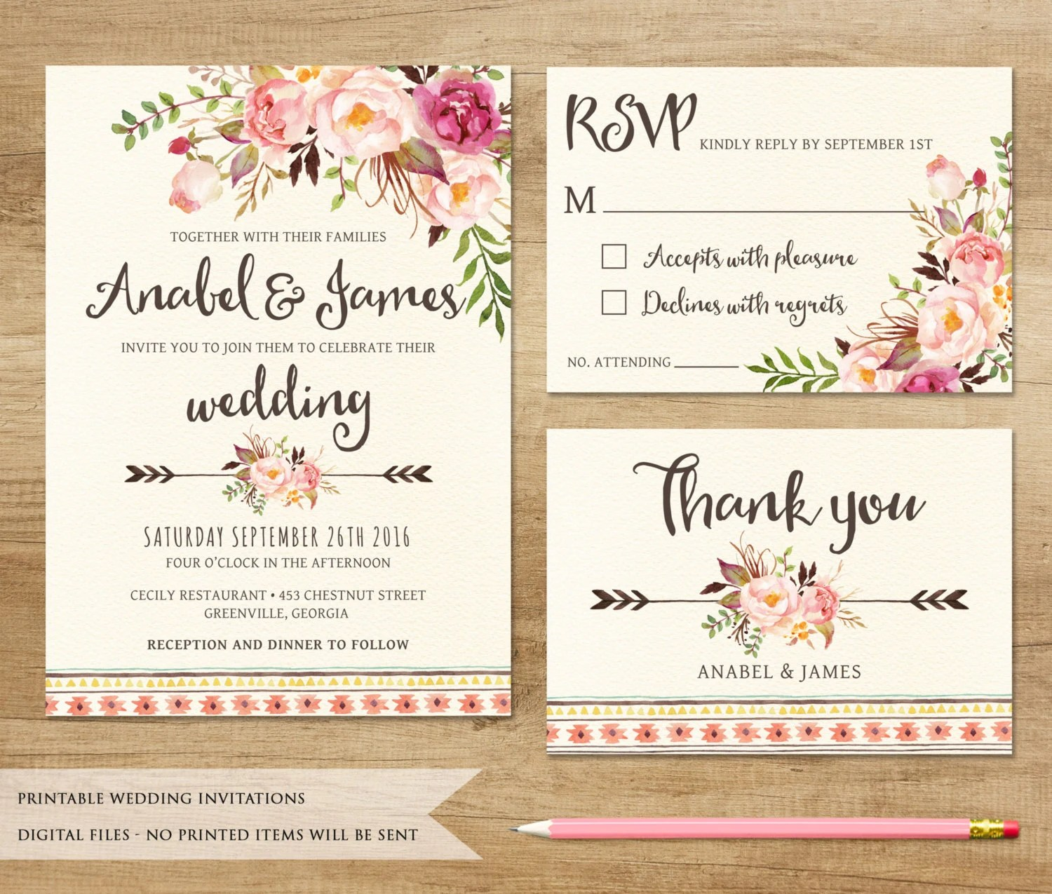 Printable Invitations Wedding