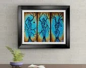Nature of Being Signed Art Print of Original Sold Painting By Rafi Perez