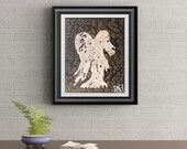 Gold Drip Angel Signed Signature Art Print By Rafi Perez