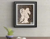 Gold Drip Angel Signed Signature Art Print By Rafi Perez