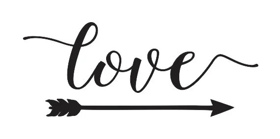 """Download Inspirational STENCIL *love with arrow* 6""""x12"""" for ..."""