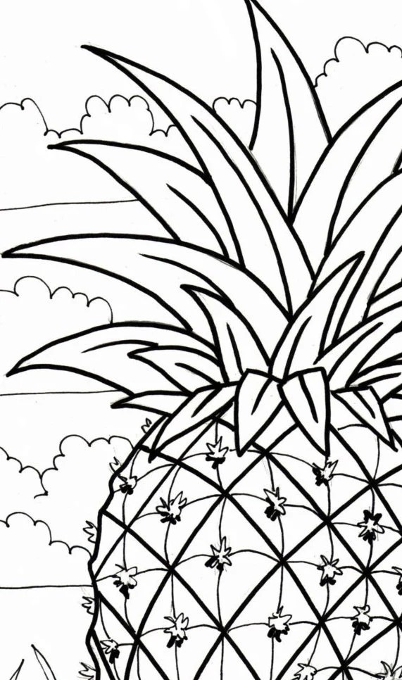 palm tree coloring page beach art digital by colorcoastalart